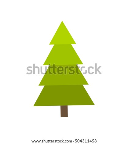 Simple isolated Christmas tree. Vector illustration