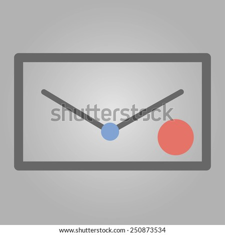 Simple letter with 2 dots for using in web design, infografics and print document - stock vector