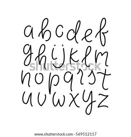 Cute Cursive Letters Stock Images Royalty Free Images