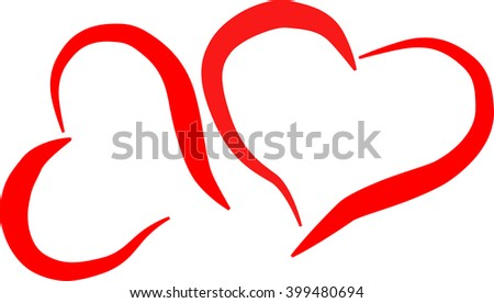 simple line hearts
