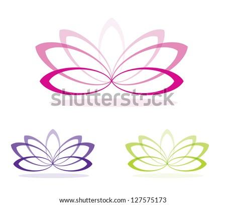 Simple lotus flowers in vector format.