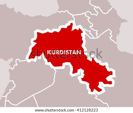 Simple map kurdistan independent state kurdish stock vector simple map of kurdistan as independent state of kurdish nation territory in the middle east gumiabroncs Choice Image
