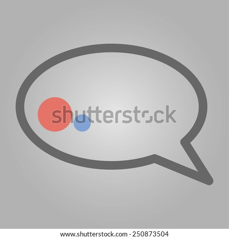 Simple message symbol with 2 dots for using in web design, infografics and print document - stock vector
