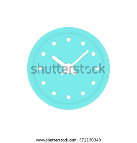 simple mint clock icon. concept of alert, measurement, accuracy, precision, optimization, control, mechanism. isolated on white background. flat style trend modern logotype design vector illustration - stock vector