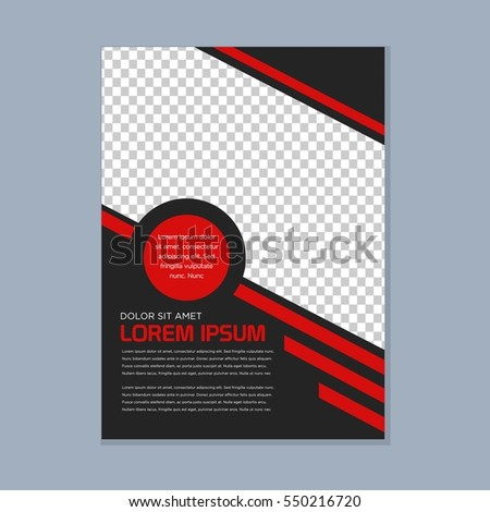 simple modern business brochure design template