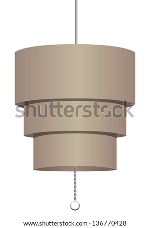 simple modern chandelier. simple modern chandelier for offices. vector illustration.
