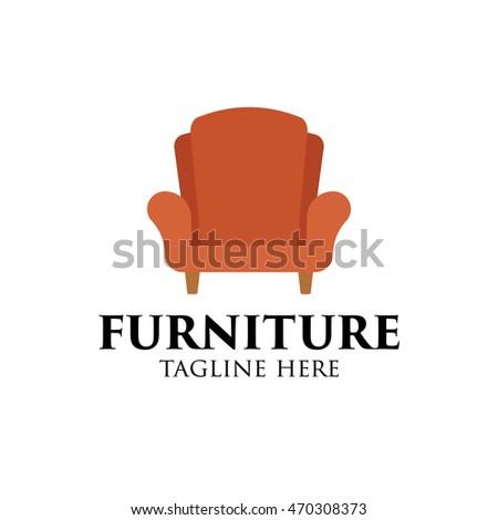 Simple Modern Furniture Logo Design Template Stock Vector 470308373