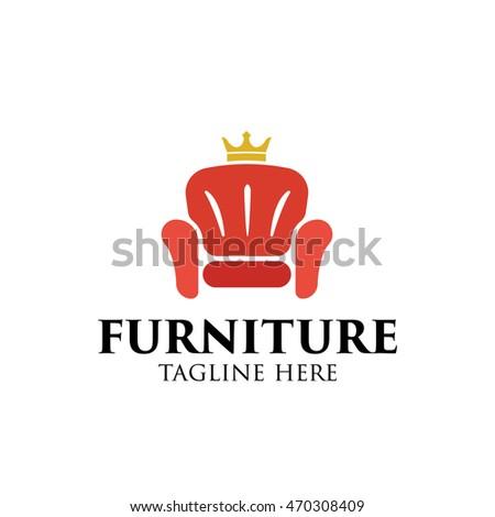 Simple Modern Furniture Logo Design Template Stock Vector 470308409