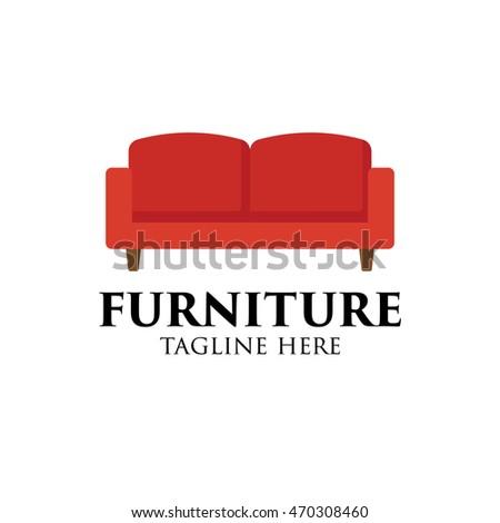 Simple Modern Furniture Logo Design Template Stock Vector HD