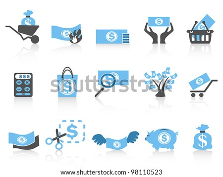 simple money icon,blue series