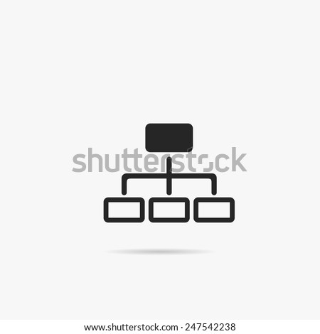 Simple Network icon. - stock vector