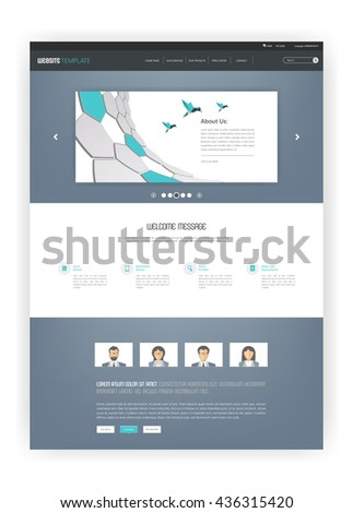 Simple One Page Website Template Design.