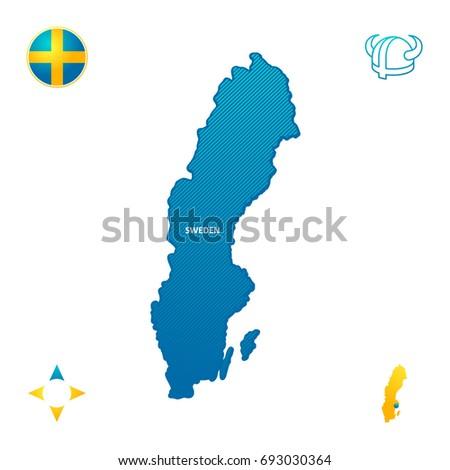 Sweden Outline Map Stock Images RoyaltyFree Images Vectors - Sweden map outline
