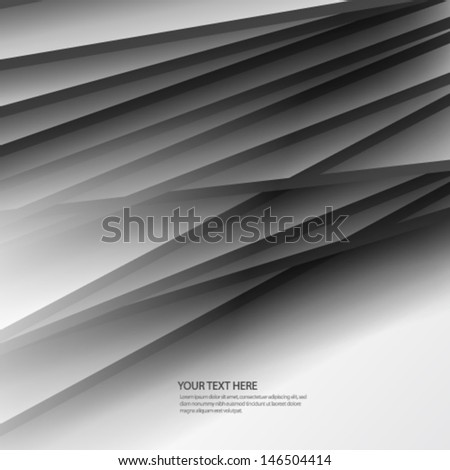 Simple Overlapping Lines Background - stock vector