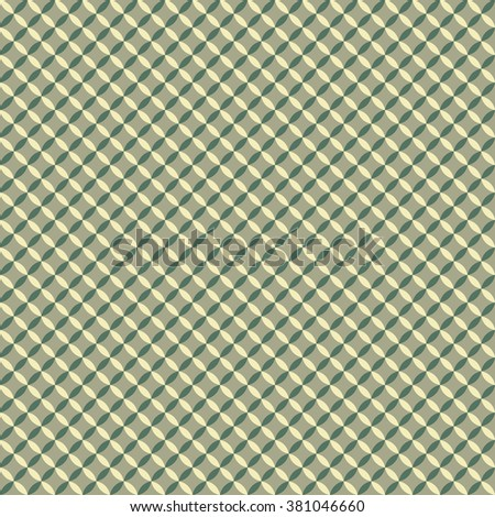 Simple pattern of overlapping circles. Gray-green color. - stock vector