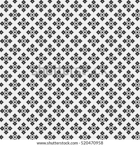 Simple pattern with monochrome geometric shapes. Useful for textile and interior design. Strict neutral style.