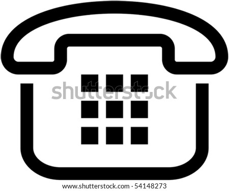 Simple phone icon - vector illustration - stock vector