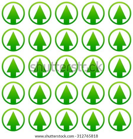 Simple pine tree repeatable pattern. editable vector. - stock vector