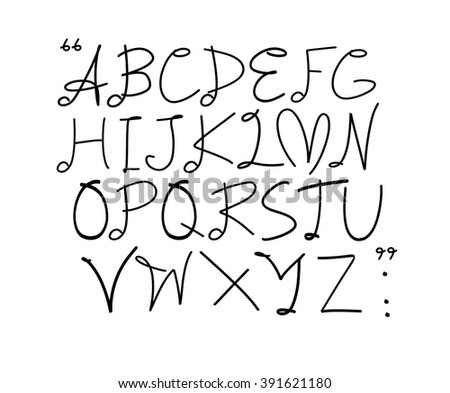 Simple Plain Vector Handwritten With Smiling Sun Font Style