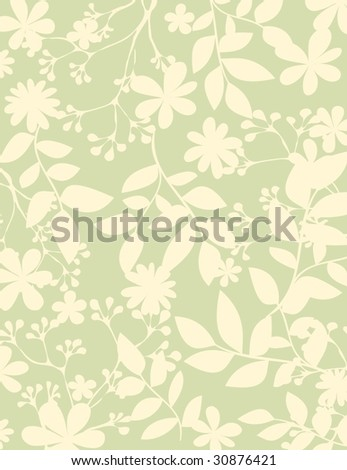 simple plants background 2 - stock vector