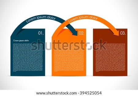 Simple presentation  - stock vector