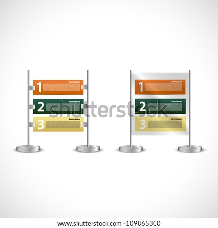 Simple publicity table - stock vector