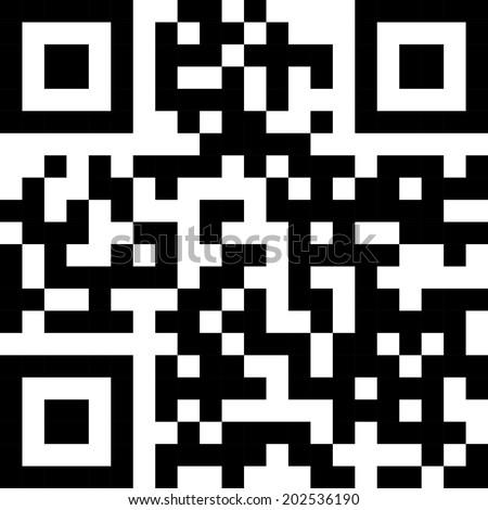 Simple QR code label.  - stock vector