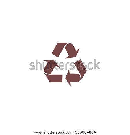 Simple Recycling. Colorful vector icon. Simple retro color modern illustration pictogram. Collection concept symbol for infographic project and logo - stock vector