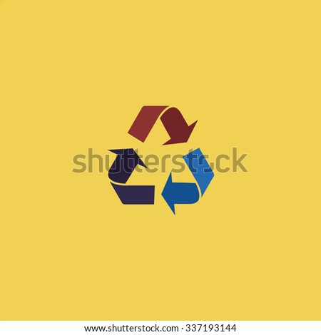 Simple Recycling. Icon Vector.