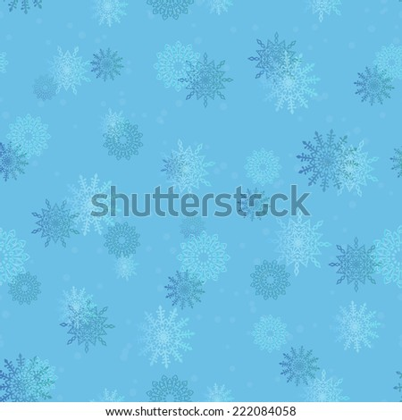 Simple seamless background with snowflakes - stock vector