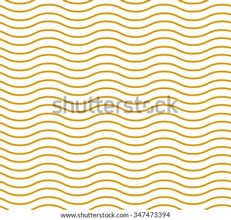 Simple seamless beauty waves pattern vector illustration. Gold color waves. Summer, winter, spring waves background.  - stock vector