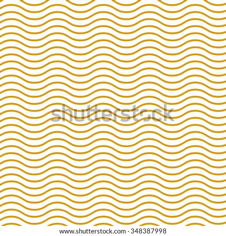 Simple seamless beauty waves pattern vector illustration. Gold, yellow gradient color aqua. Summer, winter, spring time background.  - stock vector