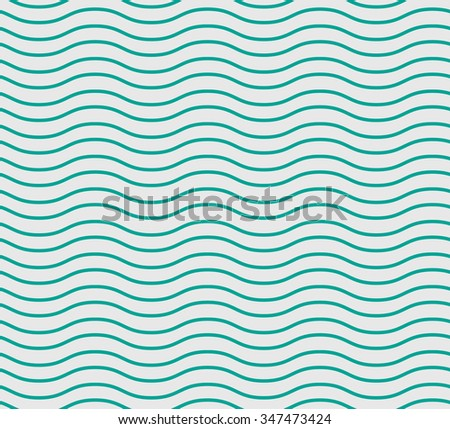 Simple seamless beauty waves pattern vector illustration. Green color. Summer, winter, spring times background.