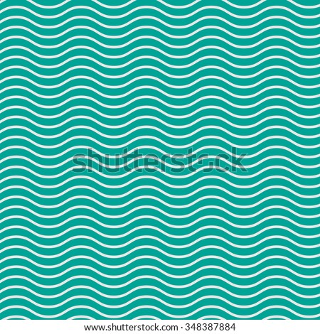 Simple seamless beauty waves pattern vector illustration. Green gradient color aqua. Summer, winter, spring time background.