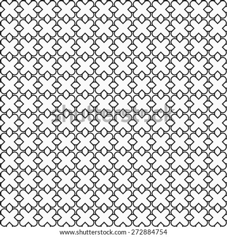 Simple seamless pattern in oriental style. Vector background