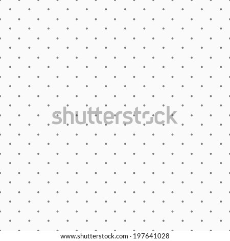 Simple, seamless polka dot background - stock vector