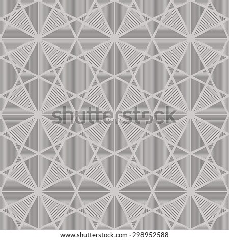 Simple seamless triangle vector geometric pattern. - stock vector