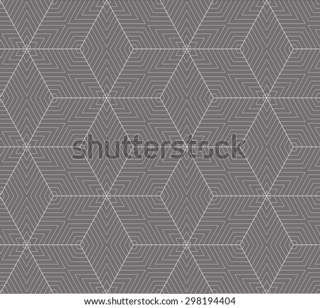 Simple seamless vector geometric pattern. - stock vector