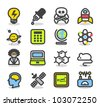 Simple Series | Science icon set - stock vector