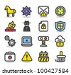 Simple Series | Security , network , internet icon set - stock vector