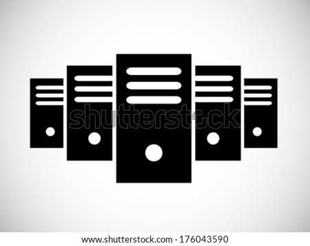 Simple Server Icon - stock vector