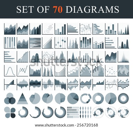 Simple set of diagram and graphs. For your design. - stock vector