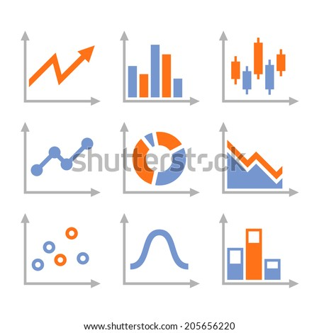 Simple Set of Diagram and Graphs. Vector Illustration - stock vector