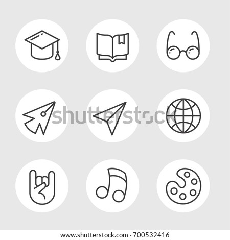 Simple Set Education Vector Line Icons Stock Vector 700532416