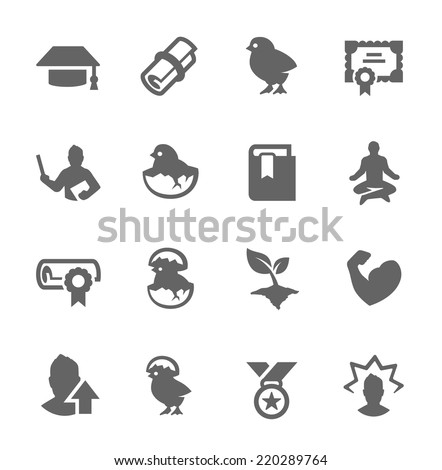 Simple Set of Personal Development Icons for Your Design. - stock vector