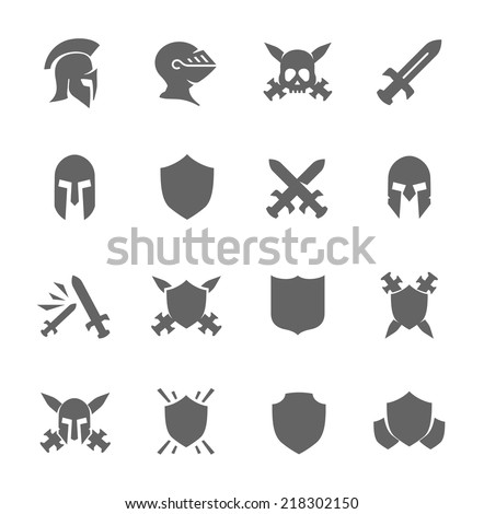 Simple Set of War Related Vector Icons for Your Design. - stock vector