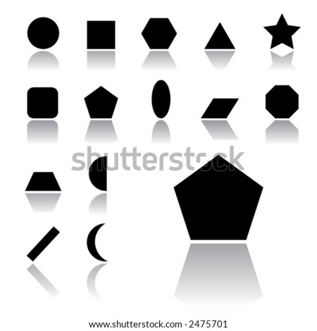 simple shape icons (light version) - stock vector