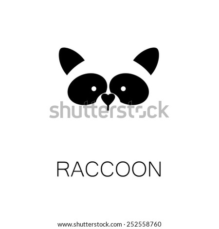 simple sign a raccoon - design template - stock vector