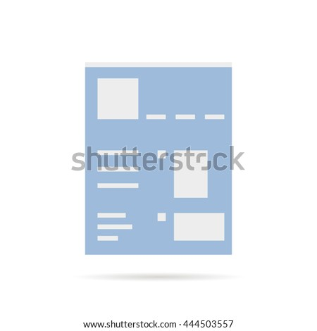 social network profile template - profile information stock images royalty free images