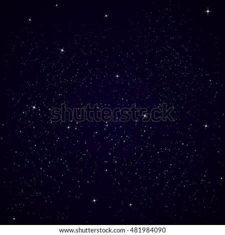 Simple space background vector illustration